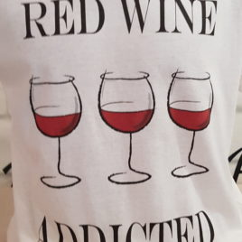 "T_SHIRT UOMO "" RED WINE ADDICTED"""