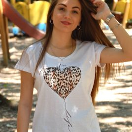 "T-SHIRT DONNA LINEA ANIMAL ""Life"""